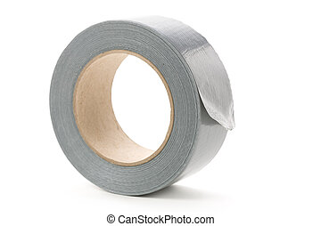 Grey Duct Tape - a roll of Grey Duct Tape with white...