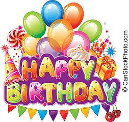 heureux, anniversaire, texte, fête,...