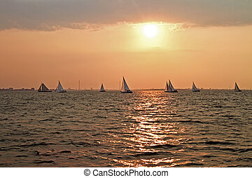 sailing on the IJsselmeer in the Netherlands - Sailing on...