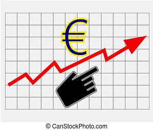 Rise equity price of euro
