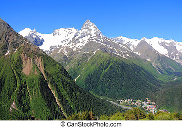 Caucasus mountains Dombai - Image of beautiful landscape...
