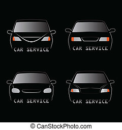 Cars silhouettes - Abstract vector illustration of various...