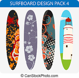 Surfboard design pack 4