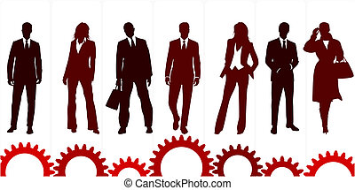 Business solution - Concept illustration about the business...