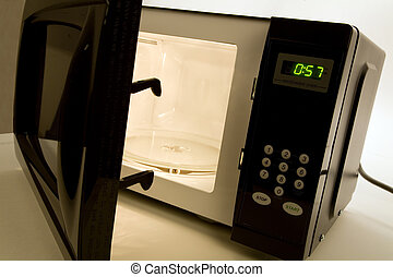Microwave Oven close up shot