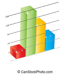 Business growth chart.eps10.vector