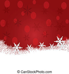 Christmas background with snow.
