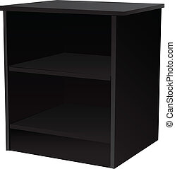 Office furniture Cabinet with two shelves Vector...
