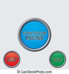 Stop start buttons