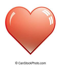 Isolated shiny heart