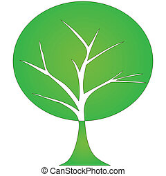 Abstract tree  on white background.