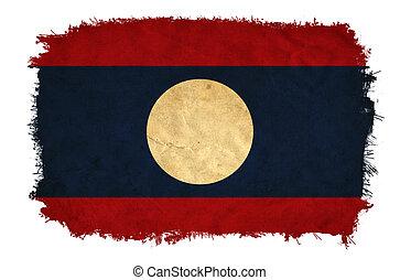 Laos grunge flag