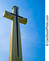 White Cross with blue sky2
