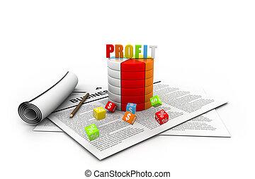 Business profit graph
