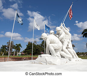 Marines - Statue of marines at Iwo Jima