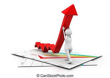 Man climb growth arrow