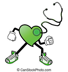 Green heart - Creative design of Green heart