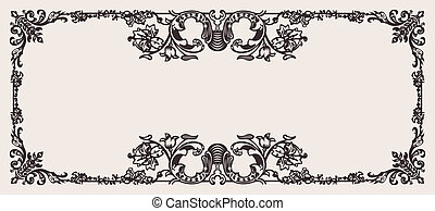 Antique Ornate Frame Scalable And Editable Vector...