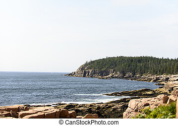 Acadia National Park - Otter Cliff - A view of Otter Cliff...