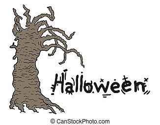 Halloween tree - Creative design of Halloween tree