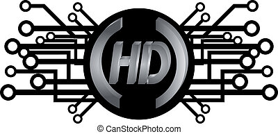 HD icon - Creative design of HD icon