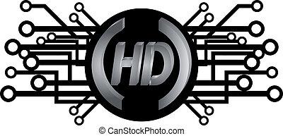 HD icon - Creative design of HD icon