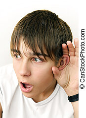 Teenager Listen To Something - Shocked Teenager listen to...