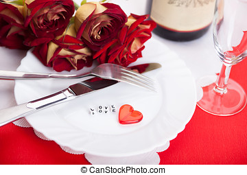 Romantic dinner Setting for valentines day - Setting for...