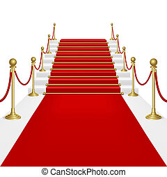 Red carpet with ladder Clipping Mask Mesh