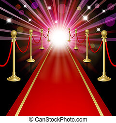 Red carpet with guard. Clipping Mask. Mesh.This file...