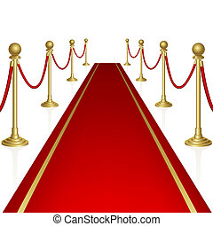 Red carpet with guard Clipping Mask Mesh
