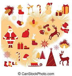 Christmas icon - Christmas and New Year set