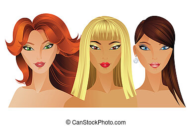 fashion girls - Three Beautiful fashion girls
