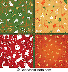 christmas seamless - christmas decorative pattern of endless...