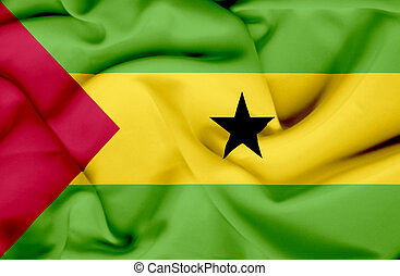 Sao Tome and Principe waving flag