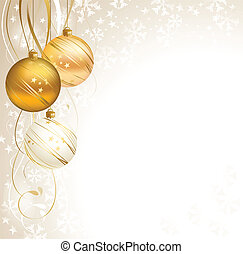Christmas - good-looking Christmas backdrop with three balls...