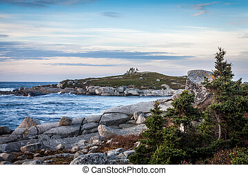 South Shore Morn - Morning light on the rocky south shore of...