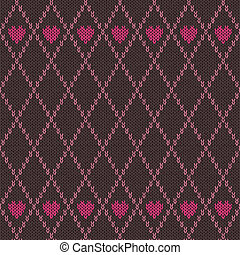 Style Seamless Pink Brown Color Kni