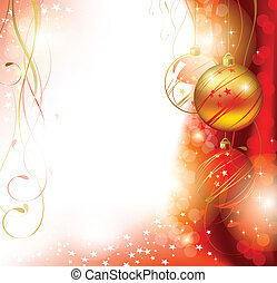Christmas background - Shiny Christmas backdrop with three...