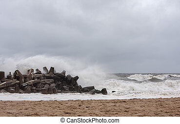Hurricane Sandy Approaches New Jersey Shore - This is Point...