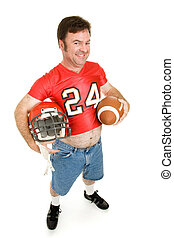 High School Football Star at 40 - Middle aged man in his...