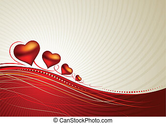 valentine day - greeting-card with The Valentine's day