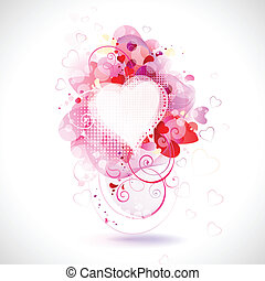 Valentines day - greeting-card with The Valentines day