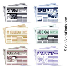 Newspapers  - set of six Newspapers