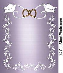 Wedding template lavender - 3D Illustration for Wedding...