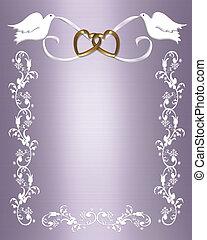 Wedding template lavender - 3D Illustration for Wedding...