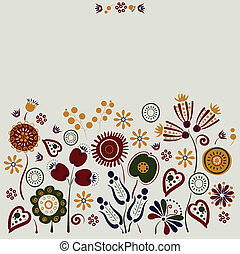 flowers  - greeting-card with bright decorative flowers