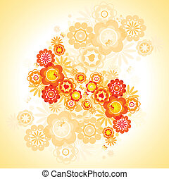 flowers  - abstract decorative bouquet of flowers