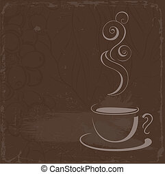coffee  - cup of hot black coffee