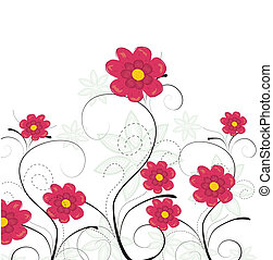 Vector flower background